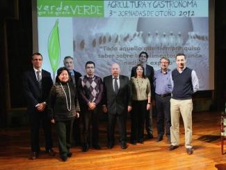 Foto con representantes de la Alianza Agroalimentaria Aragonesa