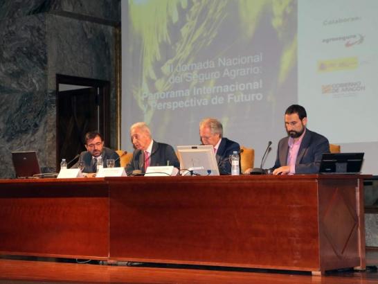 Inauguración de la II Jornada Nacional del Seguro Agrario. Alianza Agroalimentaria Aragonesa