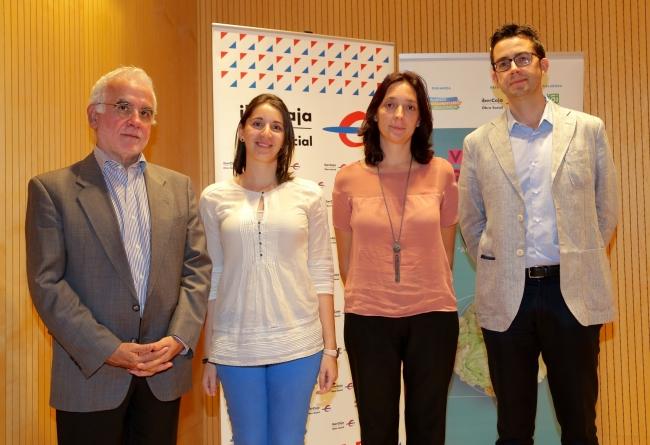 Desde la izquierda, Jorge Pastor de Panishop, Naike Castillo de Dr. Schär, Eva Lázaro de ADEPACA y Miguel Ángel Dolz de Casa Matachin