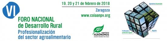 VI Foro Nacional Desarrollo Rural. Colegio Ingenieros AGrónomos Aragón, Navarra y País Vasco