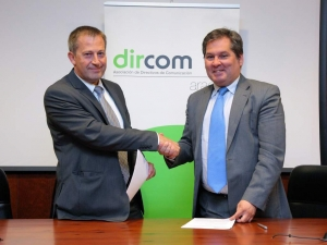 Fernando Marcén (Cooperativas Agroalimentarias) y Ricardo Pereda (DIRCOM Aragón)