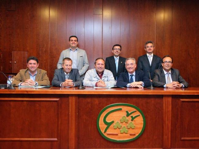 Los representantes de la Alianza Agroalimentaria Aragonesa