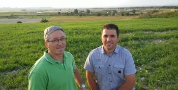 Joaquín y Jesús Labarta Dena. Premio agricultor destacado 2015. Alianza Agroalimentaria Aragonesa