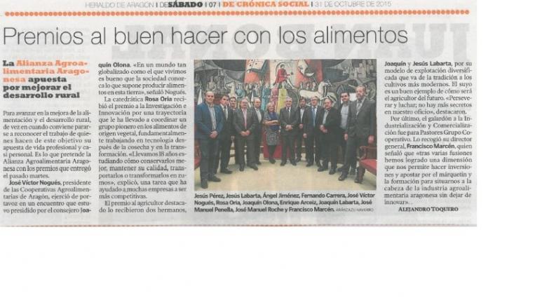 A la entrega de Premios de la Alianza asistió el consejero Olona