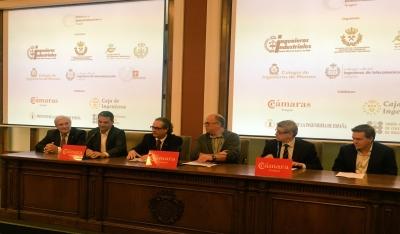 Presentación por parte de Ángel Jiménez, Luis Soriano, Ignacio Pérez-Soba, Pascual León, Juan Ramón López y Diego Juan Aisa