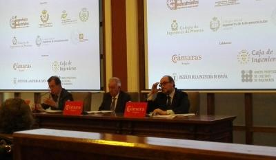 Apertura del acto por parte de Manuel Izquierdo, Fernando Fernández y Joan Cavallé
