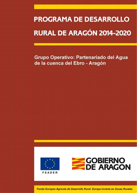 Grupo Operativo Partenariado Agua Ebro - Aragón