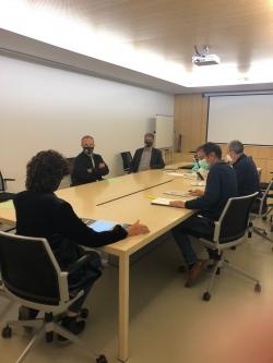 Reunión entre el Colegio de Ingenieros Agrónomos y la Consejera de Desarrollo Rural y Medio Ambiente Gobierno Navarra