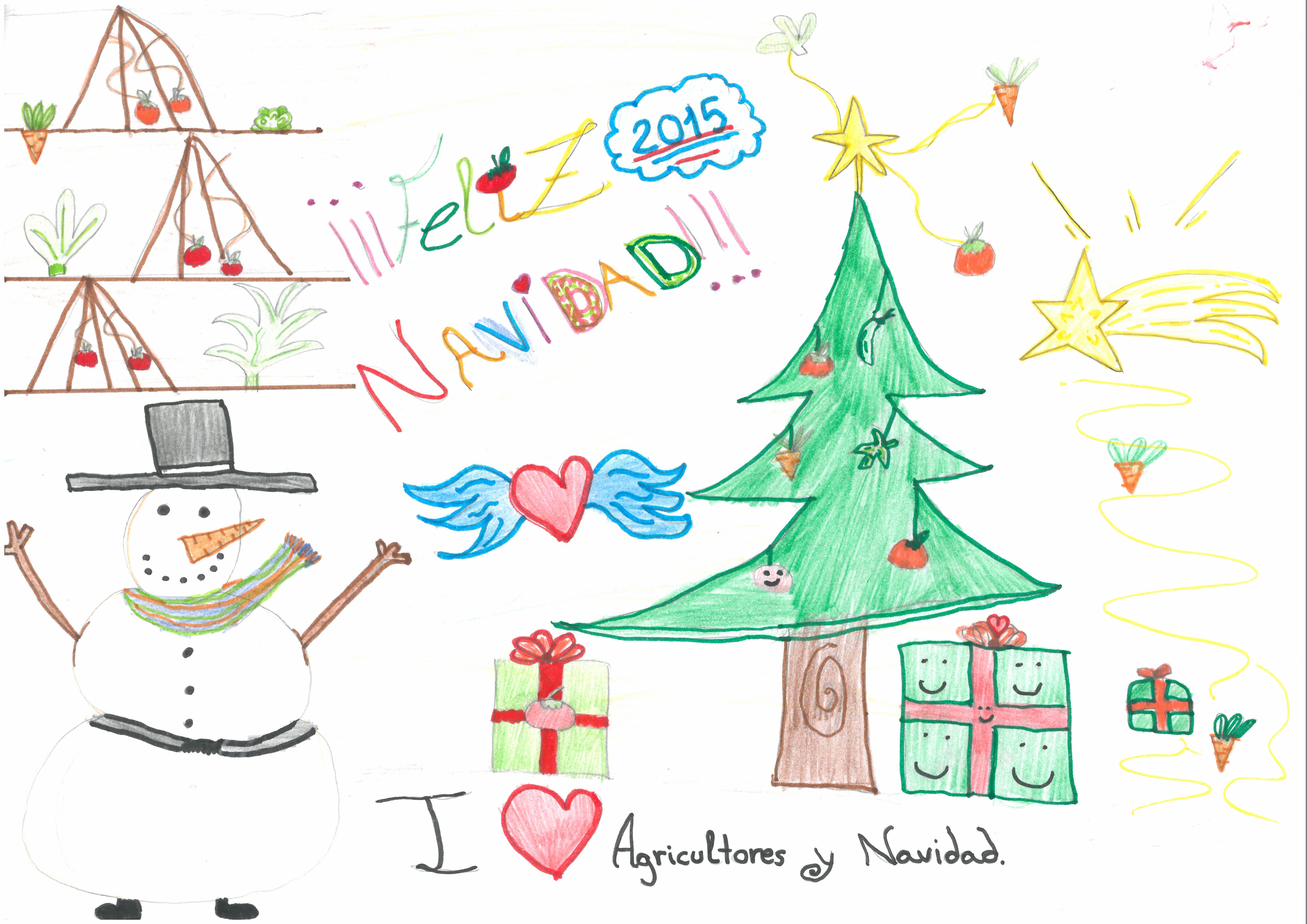 """""""I love Agricultores y Navidad"""" de Claudia Simón"""