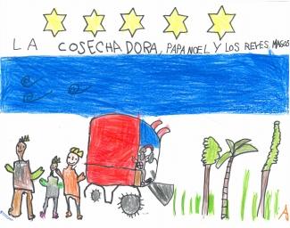 """""""La cosechadora, Papa Nöel y los Reyes Magos"""" de Diego Soriano"""