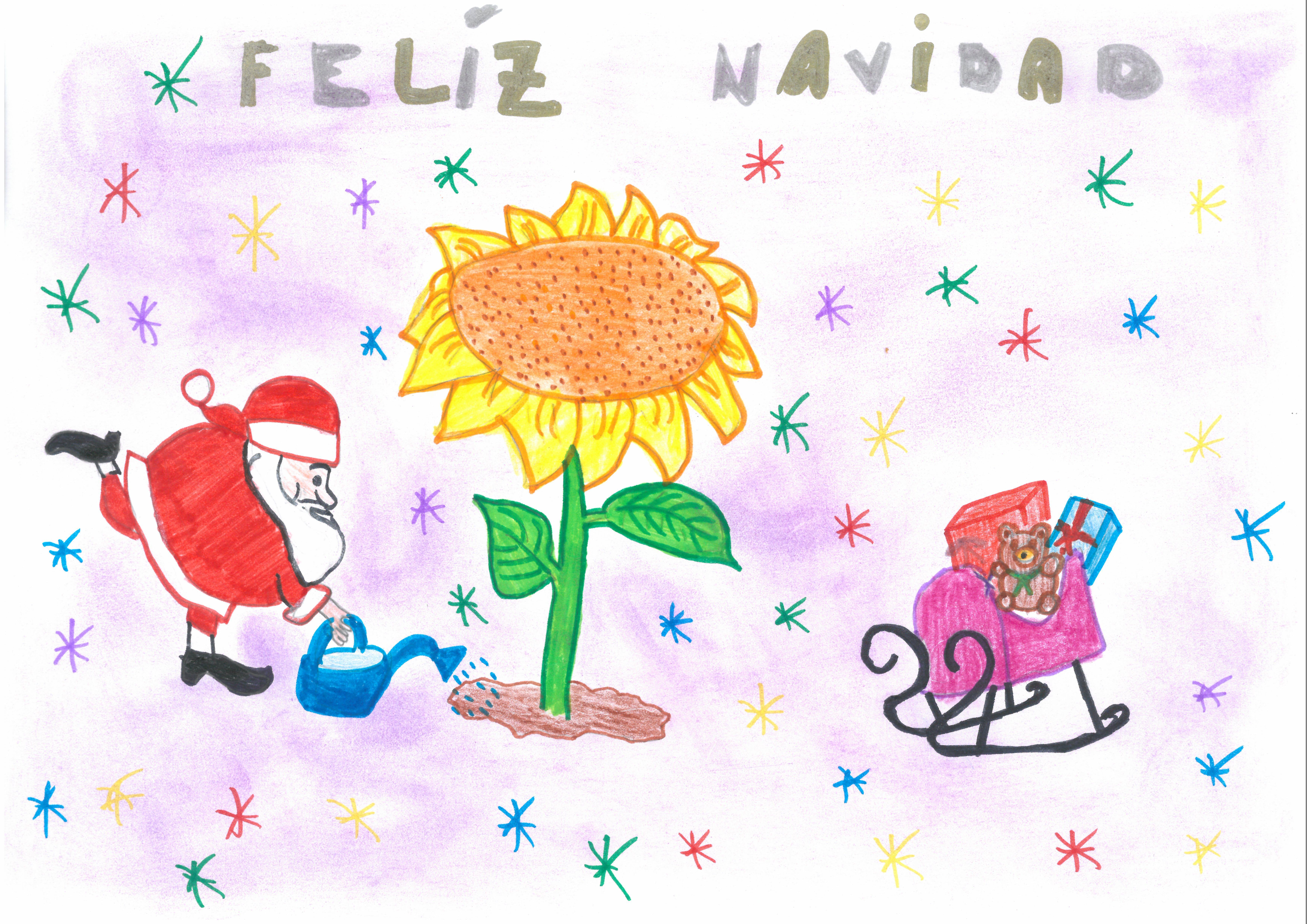 """""""La Navidad y Papá Nöel van a mandarnos lluvia para que crezcan nuestras cosechas"""" de Raquel Melendo"""