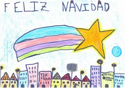 """""""La Estrella de Navidad pasa por la ciudad"""". Natalia Lafarga, 8 años"""