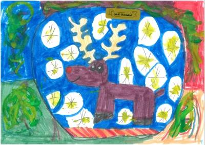 """""""De la granja a tu casa por Navidad"""". Silvia Lafarga, 8 años"""