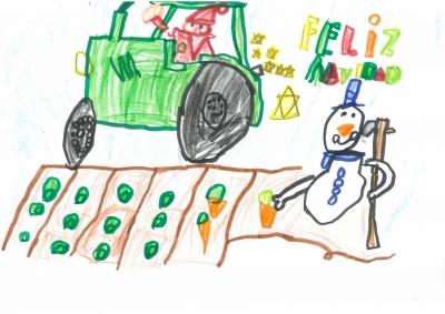 """""""Cultivamos y cosechamos nuestros mejores deseos para el nuevo año"""" Samuel Ahmad, 6 años"""