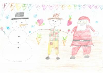 """""""El campo y la Navidad dando la bienvenida al 2016!"""". Claudia Simón, 10 años"""