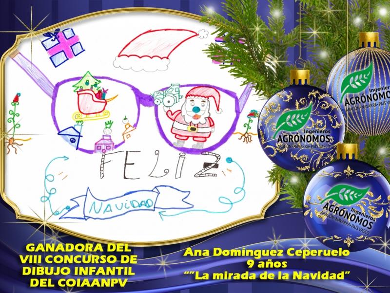 """Ana Domínguez Ceperuelo, 9 años. """"La Mirada de la Navidad"""""""