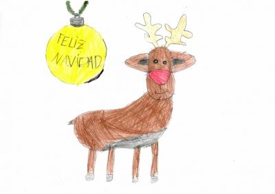 """""""Postal de Navidad"""" Inés Dominguez, 5 años"""