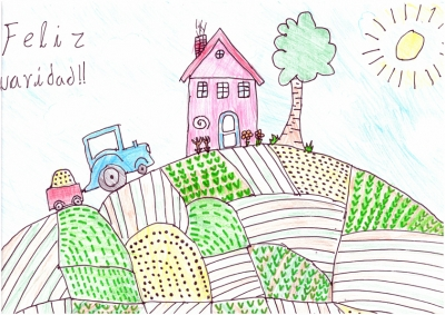 """""""Los Campos de Navidad"""" Jorge Soriano, 8 años"""