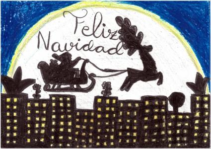 """""""La sombra de la Navidad"""" Ana Domínguez, 10 años"""