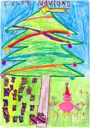 """""""Navidad de Pepa Pig"""" Candela Sarvisé, 5 años"""