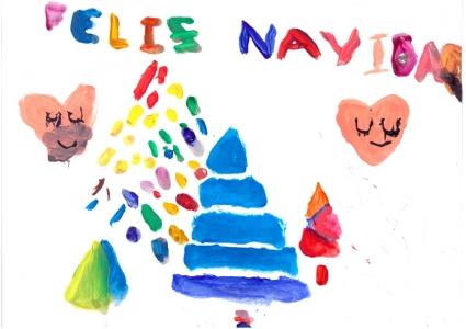 """""""Feliz Navidad"""" Carla Martínez, 7 años"""