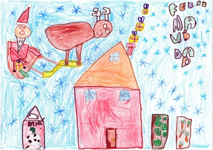 """""""Los campos de la Navidad"""" Diego Oliván, 6 años"""