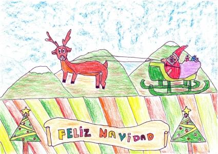 """""""Papá Noel llega al campo"""" Diego Soriano, 11 años"""