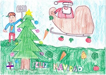"""""""La Navidad llena de felicidad... y de frutas y verduras"""" Leire Oliván, 9 años"""