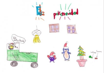 """""""Feliz Pokenavidad"""" Luis Alcubierre, 9 años"""
