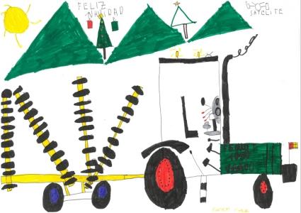 """""""Me encanta el campo y la maquinaria agrícola y el Fendt es el mejor... Feliz Navidad a todos"""" Marcos Monge, 7 años"""