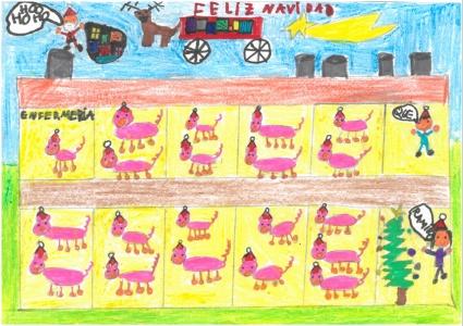 """La Navidad en la granja"" Samuel Sarvisé, 7"