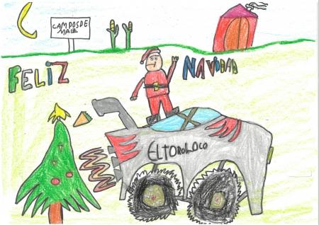 """Diego Oliván, 7 años. """"La Navidad motorizada"""""""