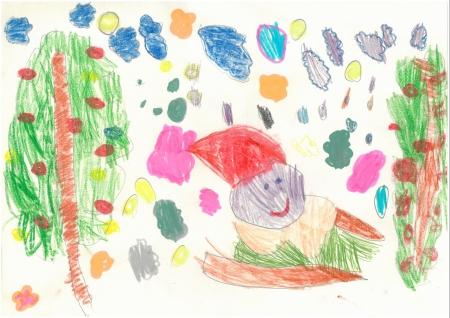 """Lucía de Partearroyo, 4 años. """"Navidades de colorines"""""""